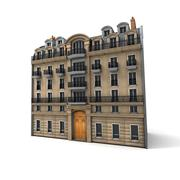 Parisian building - stock illustration