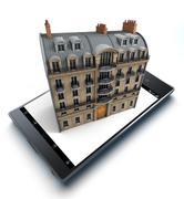 Real Estate App Stock Illustration