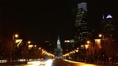 4K UltraHd Philadelphia City center traffic flowing Stock Footage