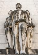 Sculpture in Coimbra University - stock photo