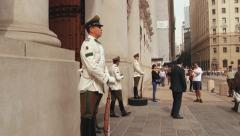 Military on duty at the La Moneda Presidential palace in Santiago, Chile. Stock Footage