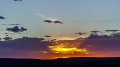 Sunset at Kings Canyon with stunning clouds Northern Territory, Australia Stock Footage