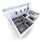 Stock Illustration of White architectural model