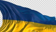 Flag of Ukraine Stock Footage