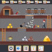 Mining Game Interface - stock illustration