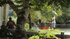 Islanders in the Hot Sun in PALAU Stock Footage