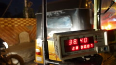 Late night Chennai tuk-tuk ride Stock Footage