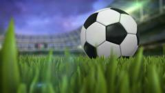 Soccerball at stadium Stock Footage