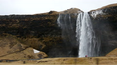 Skógafoss waterfall in southwest Iceland Stock Footage