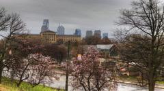 4K UltraHd A Timelapse scenic view of Philadelphia Stock Footage