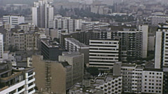 West Berlin 1974: panorama of the city - stock footage