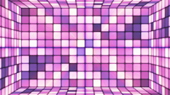 Broadcast Twinkling Hi-Tech Cubes Room, Purple, Abstract, Loopable, HD Stock Footage