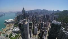 City Aerial 4K Hong Kong Stock Footage