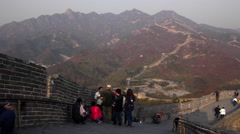 CHINA BEIJING GREAT WALL AIR POLLUTION SMOG Stock Footage