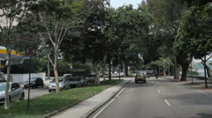 Driving Through Rio de Janeiro. Brazil. Lagoa Rodrigo de Freitas Stock Footage
