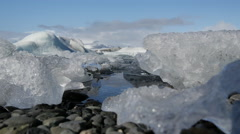 Close up from the Jökulsárlón Glacier lagoon in southeast Iceland Stock Footage