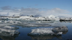 The Jökulsárlón Glacier lagoon in southeast Iceland Stock Footage