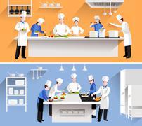 Cooking Process Illustration - stock illustration