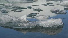 Close up from Ice at the Jökulsárlón Glacier lagoon Stock Footage