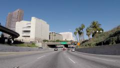 Hollywood 101 Freeway Downtown Los Angeles Stock Footage