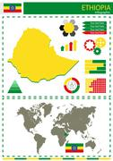 vector Ethiopia illustration country nation national culture concept - stock illustration