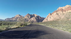 Redrock Canyon Nevada Loop Road Driving Stock Footage