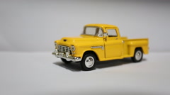 Yellow truck toy Stock Footage