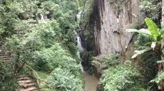 Datanla waterfall lifting Stock Footage