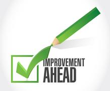 Stock Illustration of improvement ahead check mark sign