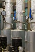 Stock Photo of Manometer pressure in the boiler room