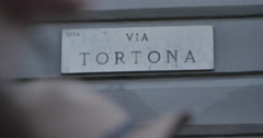 Fuori Salone, Via Tortona and Porta Genova bridge. Stock Footage