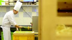 MONTAGE (20 videos) - production of pasta - process from fabrication Stock Footage