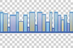 Blue Cityscape Stock Illustration