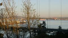 Lions Gate Bridge from Prospect Point - stock footage