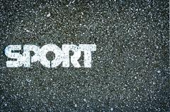 Sport Word on Asphalt coscept photo - stock photo