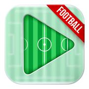 Application icon for live sports broadcasts or games Stock Illustration