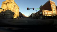Boston South End Driving POV Stock Footage