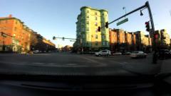 Avenue of Brownstones Boston Stock Footage
