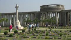 Allied soldiers, Taukkyan war cemetery near Yangon, Myanmar Stock Footage