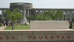 Taukkyan war cemetery near Yangon, Myanmar Stock Footage