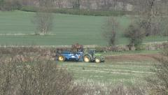 Loading a manure spreader. Stock Footage