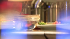 Cook chopped vegetables - stock footage