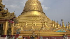 Bago Shwemawdaw Pagoda, Myanmar Stock Footage