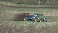 Manure spreading. Stock Footage