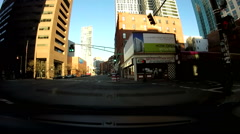 Boston Combat Zone Chinatown POV Stock Footage