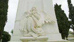 Marble Monument Angel Stock Footage