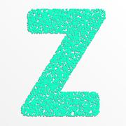 Stock Illustration of Vector multi color alphabet with grain texture, letter z