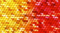 Broadcast Twinkling Cubic Hi-Tech Triangles, Multi Color, Abstract, Loopable, HD Stock Footage