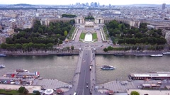 View from Eiffeltower, Paris Stock Footage
