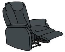 Big TV armchair Stock Illustration